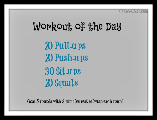 Modified Crossfit WOD